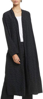 Eileen Fisher Morse Code Long Kimono Jacket, Plus Size