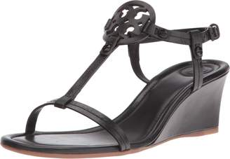 Tory Burch Miller Logo 60mm Leather Wedge Sandal