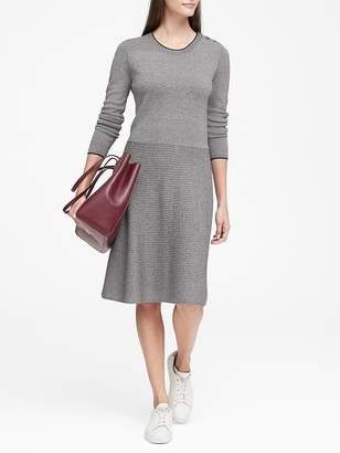 Banana Republic Button-Shoulder Sweater Dress