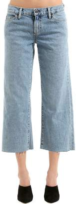 Simon Miller Cropped Flared Cotton Denim Jeans