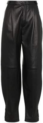 Givenchy high waisted front pocket leather trousers
