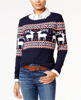 Tommy Hilfiger Reindeer Fair Isle Sweater, Only at Macy's $79.50 thestylecure.com