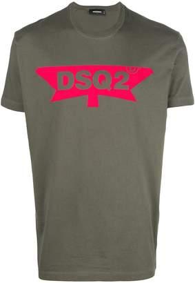 DSQUARED2 half maple logo T-shirt