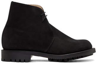 TAKAHIROMIYASHITA TheSoloist. Black Suede George Desert Boots