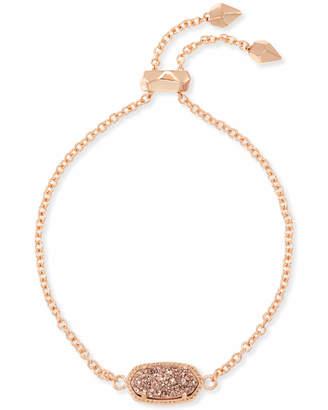 Kendra Scott Elaina Rose Gold Adjustable Chain Bracelet in Sand Drusy