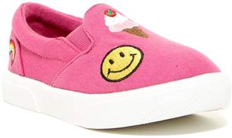 Mia Twin Gore Emoji Slip-On Sneaker (Toddler)