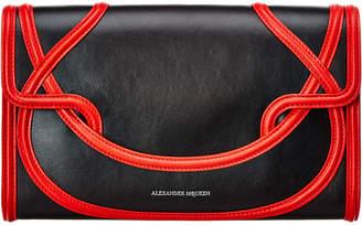 Alexander McQueen Wicca Leather Envelope Clutch