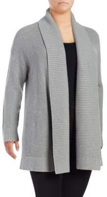 MICHAEL Michael Kors Waffle-Knit Shawl Collar Cardigan