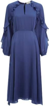 Ophelia Beulah Blue Ruffle Dress