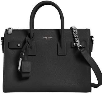 Saint Laurent Baby Sac De Jour Leather Bag W/ Chain