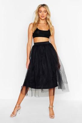 boohoo Full Tulle Midi Skirt