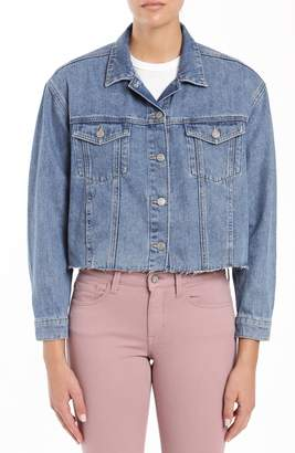 Mavi Jeans Sienna Crop Raw Hem Denim Jacket