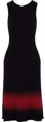 Tomas Maier Intarsia Ribbed-Knit Dress