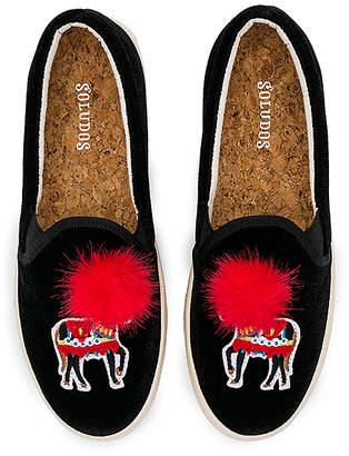 Soludos Velvet Show Pony Sneaker