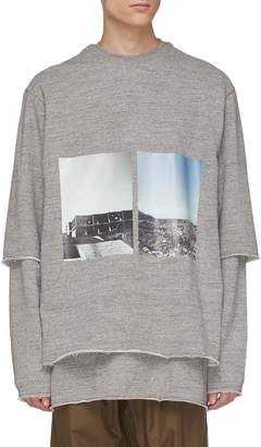 Song For The Mute 'Landfill' photographic print layered sweatshirt