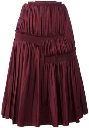 Nina Ricci pleated A-line skirt