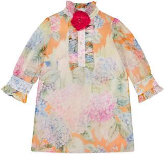 Children's hydrangea print silk dress $995 thestylecure.com