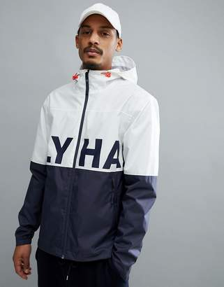 Helly Hansen Amaze Logo Jacket In White/Navy