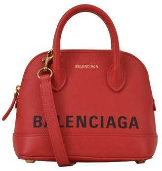 Balenciaga Red Ville Top Handbag