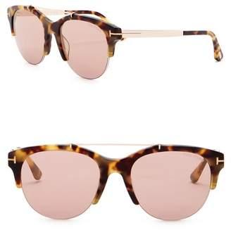 Tom Ford Adrenne 55mm Browbar Cat Eye Sunglasses