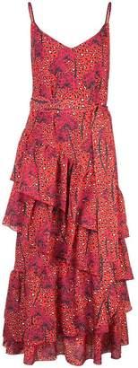 Borgo de Nor Coco leopard-print ruffled dress