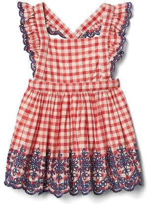 Gingham eyelet flutter dress $44.95 thestylecure.com