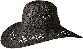 Ale By Alessandra Women's Floresta Intricate Weave Toyo Boho Floppy Hat