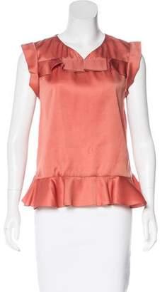 Araks Ruffle Silk-Blend Top