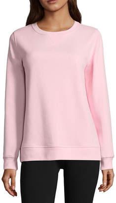 SJB ACTIVE St. John's Bay Active Long Sleeve Sweatshirt- Talls