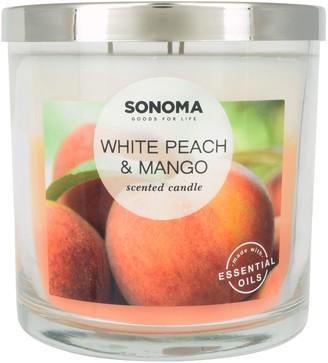 Sonoma Goods For Life SONOMA Goods for Life White Peach & Mango 14-oz. Candle Jar