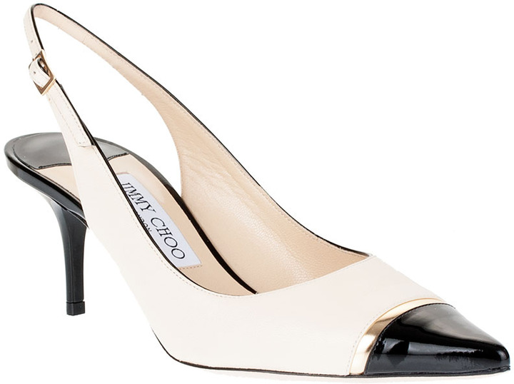 Jimmy Choo Laurel leather slingback pump