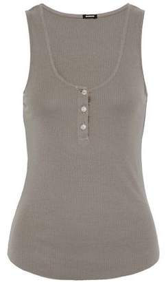 Monrow Ribbed Cotton And Modal-Blend Tank