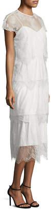 Parker Elsa Tiered Lace Dress