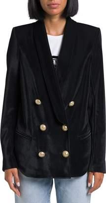 Balmain Piquet Velvet Pyjama Jacket