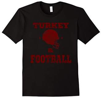 Thanksgiving Football Shirt - Turkey and Football Red