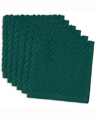Design Import Zigzag Dishcloth, Set of 6