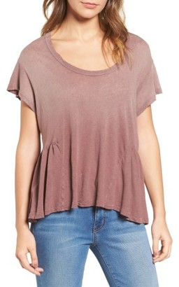 Women's Current/elliot The Girlie Linen Blend Tee $118 thestylecure.com