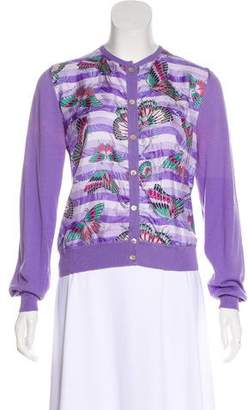 Salvatore Ferragamo Printed Knit Cardigan
