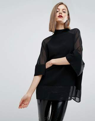 ASOS Sheer and Solid Oversize Tee $45 thestylecure.com
