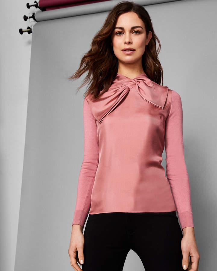 Pullover Mit Seide Und Oversized