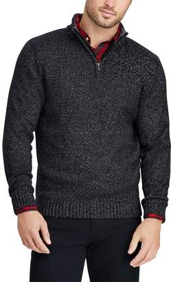 Chaps Big & Tall Classic-Fit Quarter-Zip Mockneck Sweater