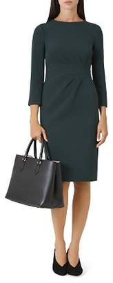 Hobbs London Alexa Pleated Detail Sheath Dress
