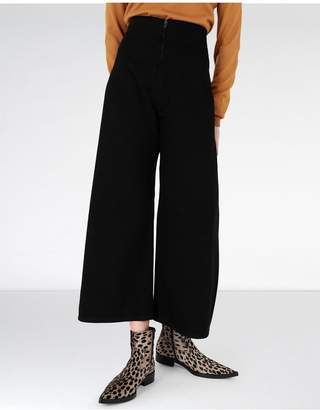 Maison Margiela Large Denim Trousers With Side Panels