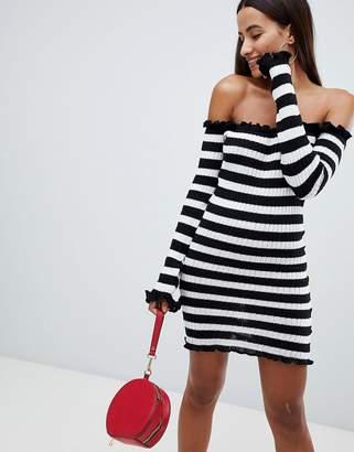 AX Paris Bardot Striped Jersey Dress