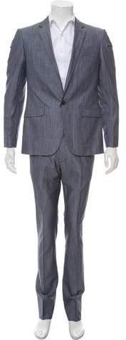 Calvin Klein Collection Chambray Single Button Suit