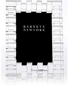 """Barneys New York Block-Pattern Crystal 4"""" x 6"""" Picture Frame"""