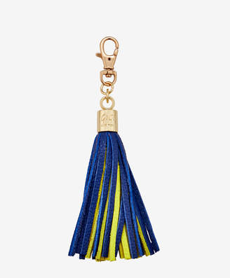 GiGi New York Tassel Bag Charm, Blue and Yellow