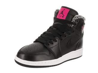 Jordan Nike Kids Air 1 Retro High GG Black/Deadly Pink White Basketball Shoe 7 Kids US