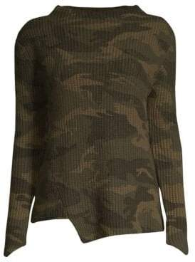 Generation Love Camo Asymmetric Knit Sweater