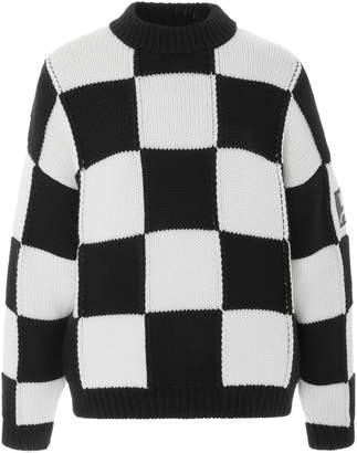 Courreges Oversized Checkerboard Sweater